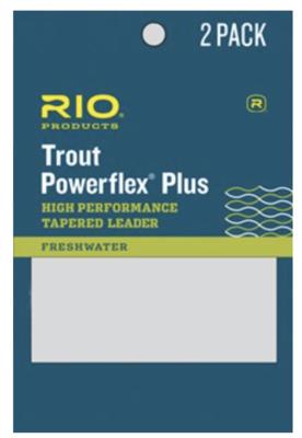 Rio Trout Powerflex Plus 9Ft Leader 2Pk