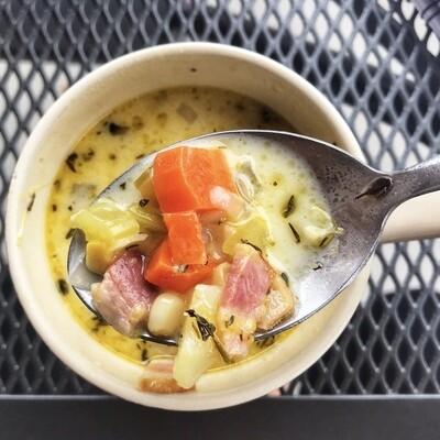 Corn Chowder & Shrimp Soup*