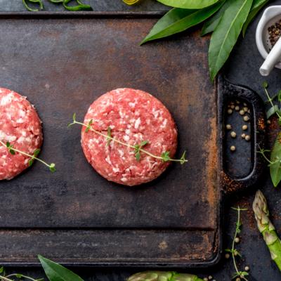Angus Beef Burgers: Unseasoned PKG of 4