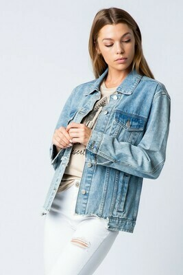 Ribbed Denim Jacket