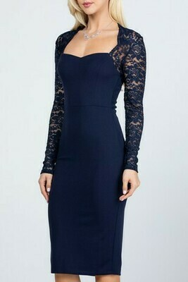 Lace Midi Pencil Dress