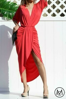 Venetian Ruched Body Con Dress