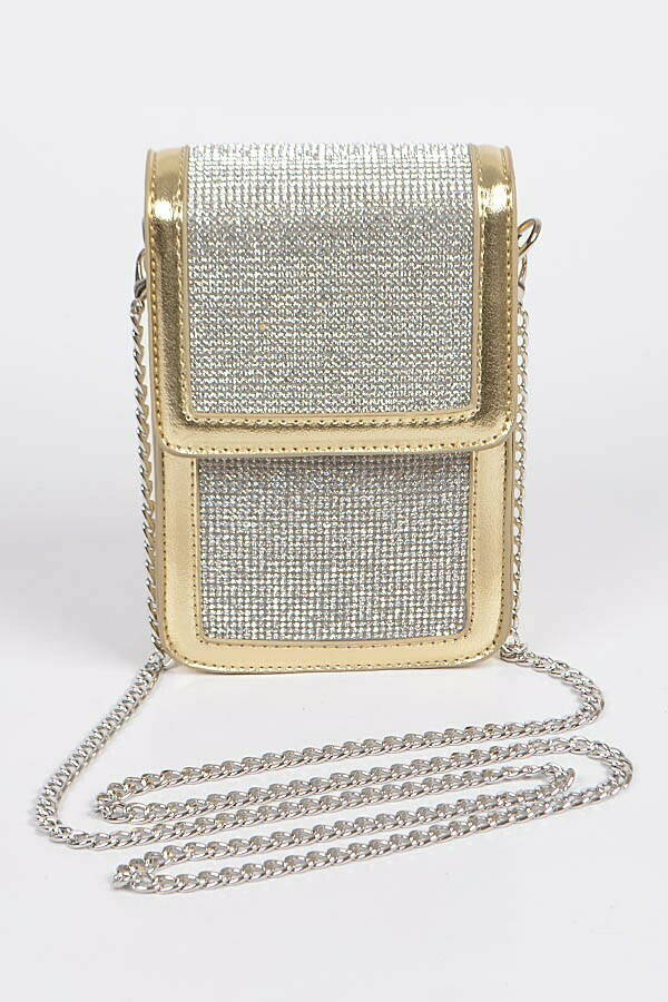 Multi Purpose Rhinestone Clutch