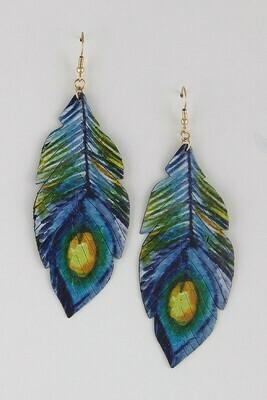 Painted Leaf Earrings