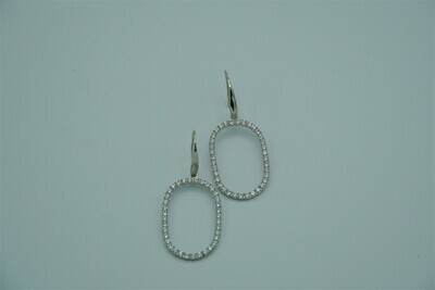 Oval Drop Stdd Earrings