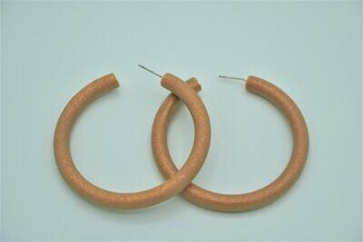 Brown  Shimmer Hoop earring