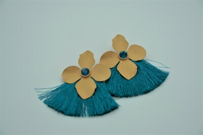 Floral Fan Earrings