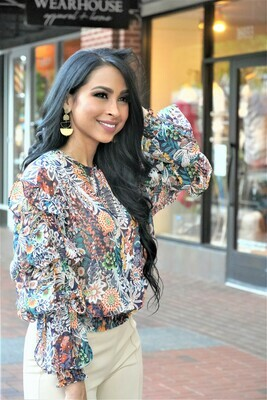 Floral Marie Sleeve Top