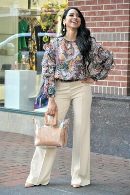 Beige Stretch Pants