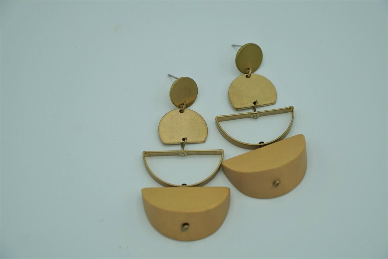 Wood Origami drop earrings