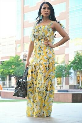 Floral Pintuck Dress