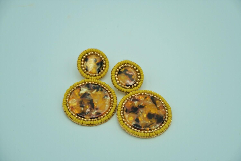 Ornate Round Earring