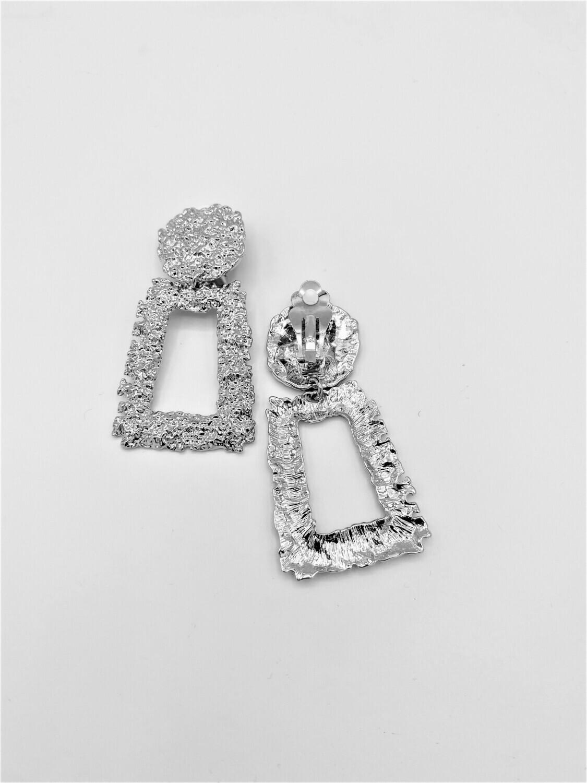 Marble Drop Earring ( Silver)