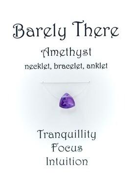 Amethyst - Invisible Necklet, Bracelet, Anklet - Trillion Facet