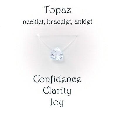 White Topaz - Invisible Necklet, Bracelet, Anklet -Trillion Facet