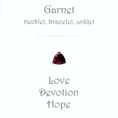 Garnet - Invisible Necklet, Bracelet, Anklet -Trillion Facet