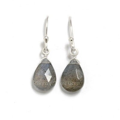 Labradorite, Sterling Silver, Drop Earrings