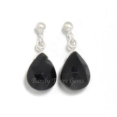 Black Onyx, Sterling Silver, Stud Earrings