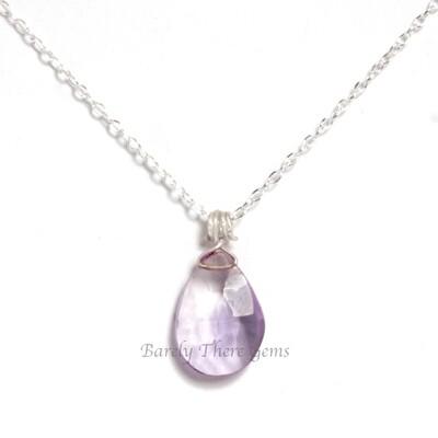 Ametrine, Sterling Silver. Necklace