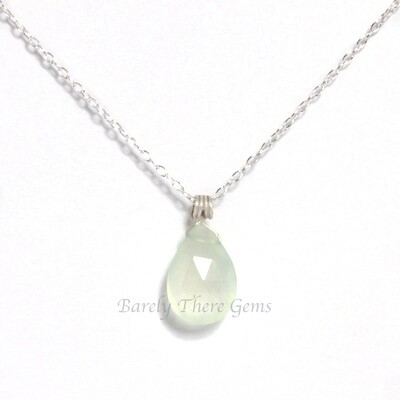 Chalcedony, Sterling Silver, Necklace