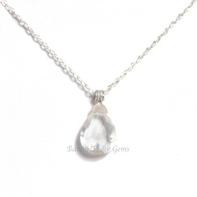 Clear Quartz, Sterling Silver, Necklace