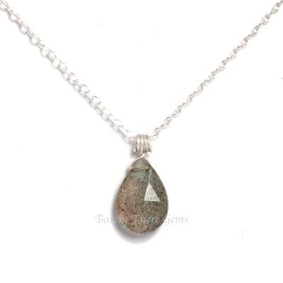 Labradorite, Sterling Silver, Necklace