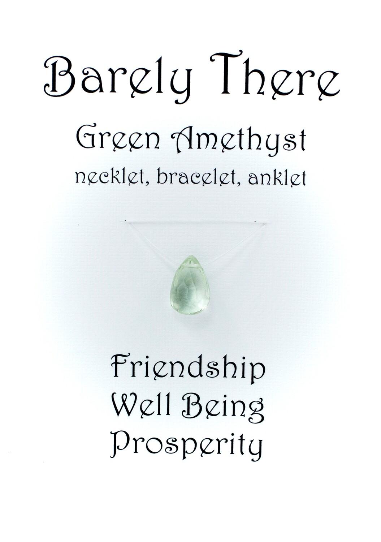 Green Amethyst - Invisible Necklet, Bracelet, Anklet