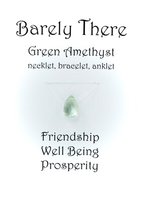 Green Amethyst - Invisible Necklet, Bracelet, Anklet
