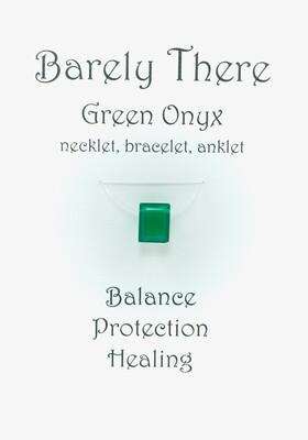 Green Onyx - Invisible Necklet, Bracelet, Anklet - Emerald Facet