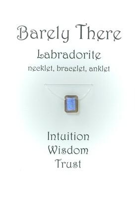 Labradorite - Invisible Necklet, Bracelet, Anklet - Emerald Facet