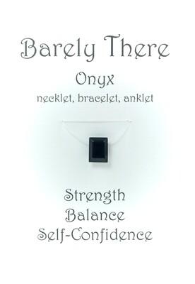 Black Onyx - Invisible Necklet, Bracelet, Anklet -Emerald Facet