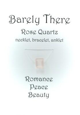 Rose Quartz - Invisible Necklet, Bracelet, Anklet - Emerald Facet