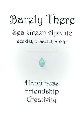 Sea Green Apatite - Invisible Necklet, Bracelet, Anklet