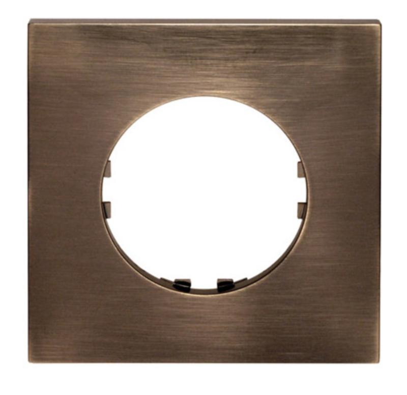 Square frame, bronze color