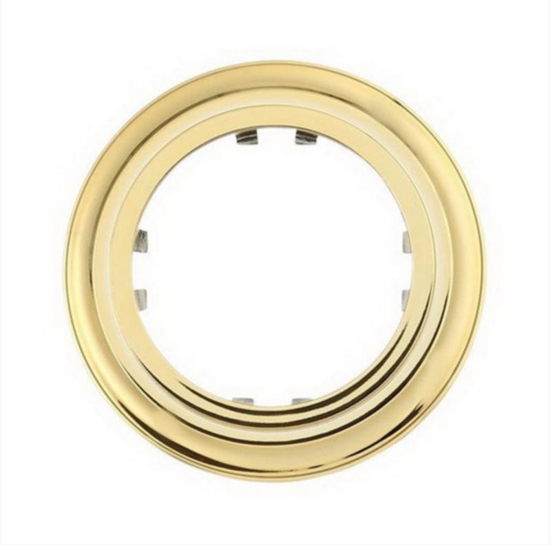 Round golden frame