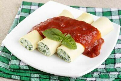 Fazzoletti au fromage et aux épinards sauce rosée (350 gr)