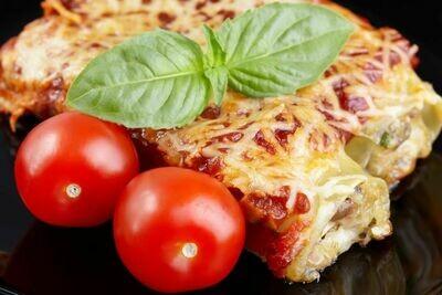 Cannelloni au fromage et aux épinards sauce napolitaine (350 gr)