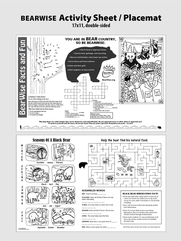 BearWise Placemat (PDF)