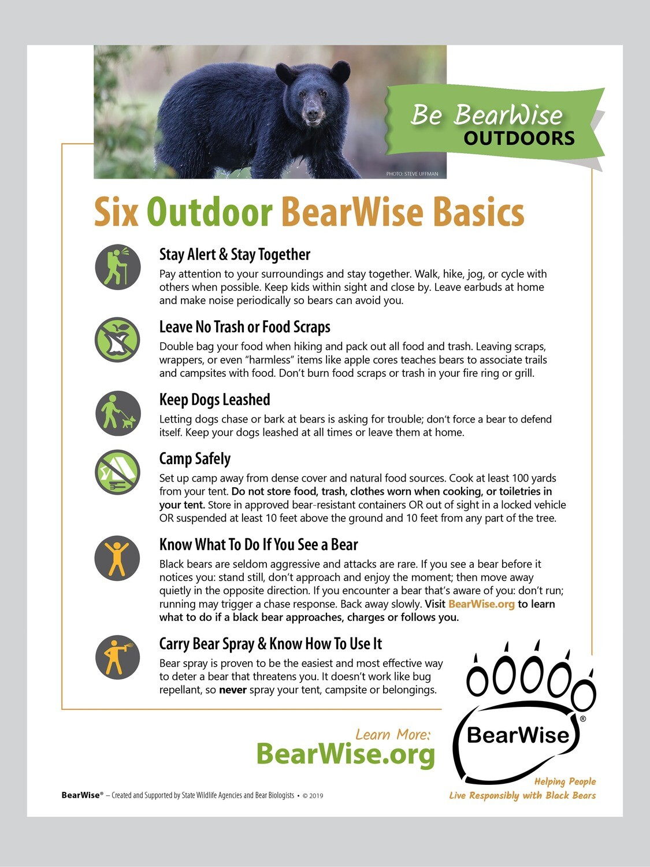 Six Outdoor BearWise Basics