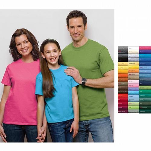 Port & Company (R) - Essential T-shirt, 6.1 oz. dark color heavyweight cotton, cover seamed neck, blank.