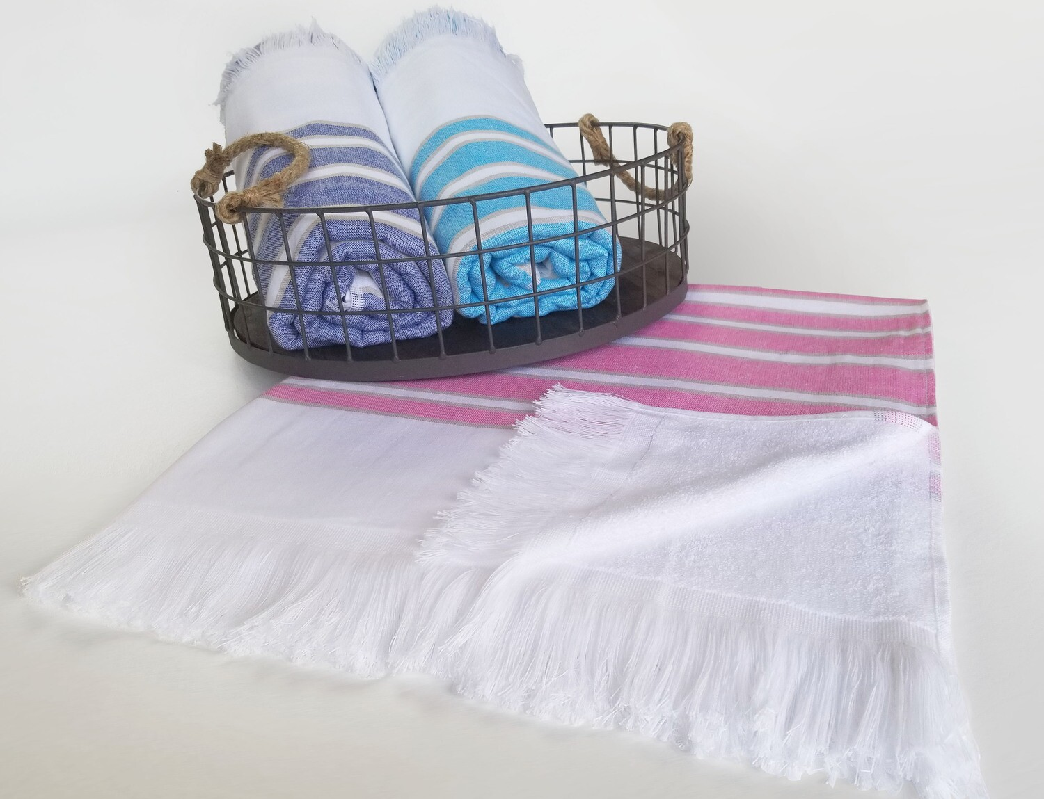 36x70 Turkish Beach Towels with Fringes, 19 lbs per Dz.