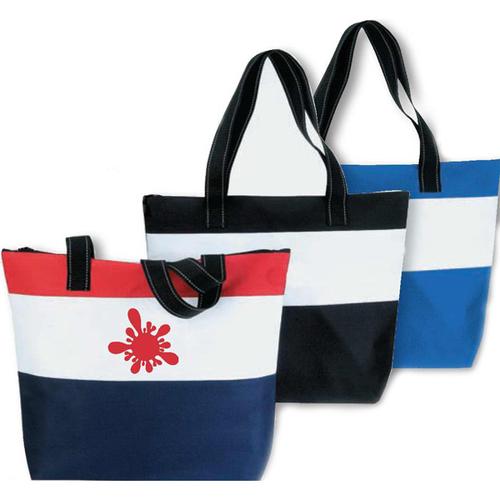 Beach Polyester Zipper Bag - 12 Bags Minimum per order