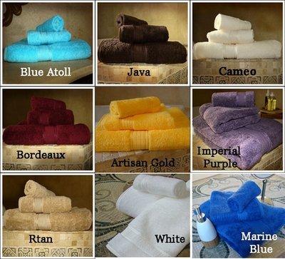Crown Jewel Bath Towels Set Luxurious , 100 % Giza  Egyptian Cotton. Weight 30.0 Lb\Dz. 1 Set.