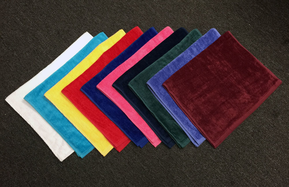 16x25 Hand Towels - Velour 3.5 Lb\Dz 100% Combed Cotton, Combed Cotton Loops by Royal Comfort. Blank 12 Pcs