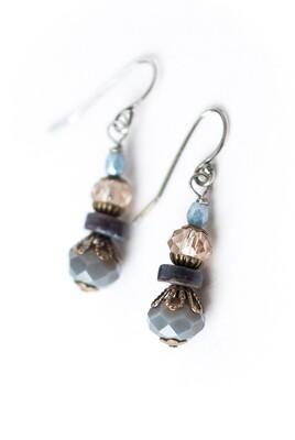 AV Claridad Czech Glass Dangle Earrings #clar002e