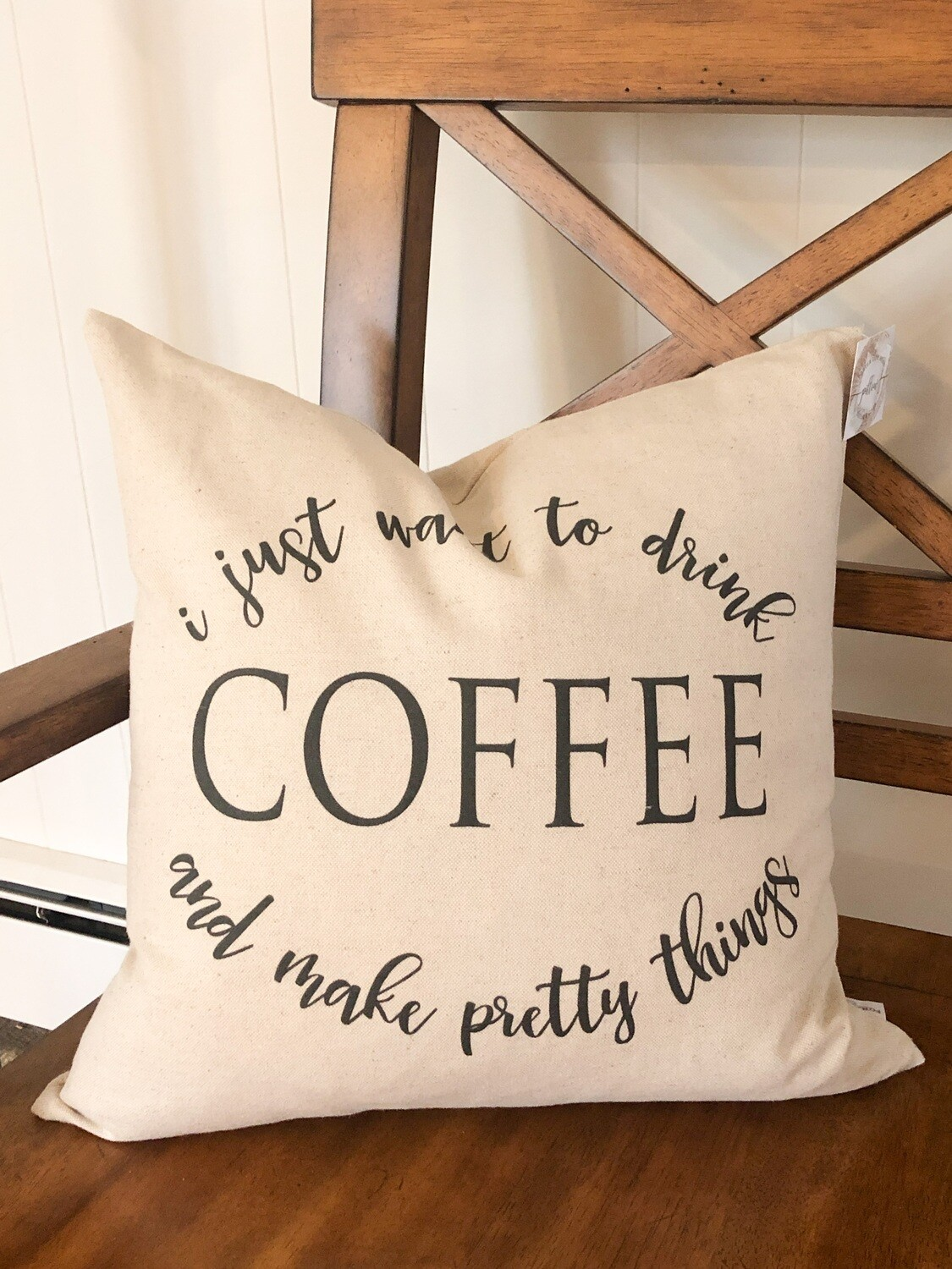 Just want to drink coffee pillow no.p12