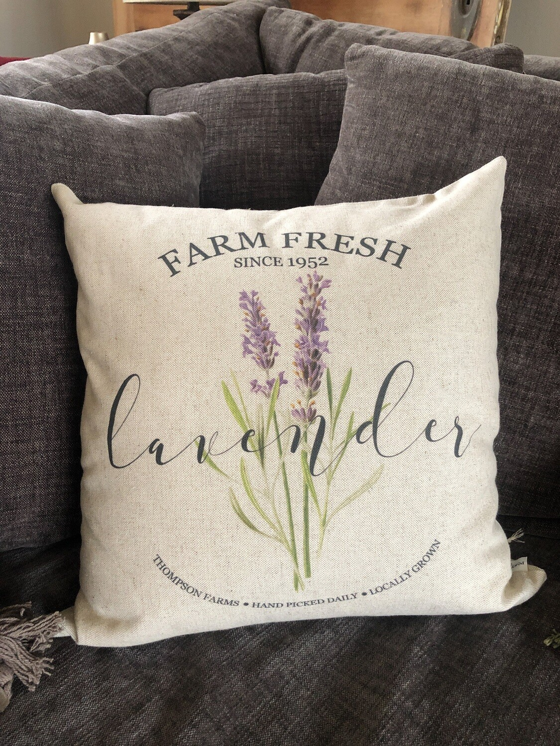 Farm Fresh Lavender Pillow no. P13