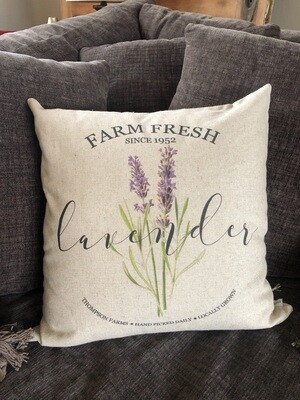 Farm Fresh Lavender Pillow no. P13
