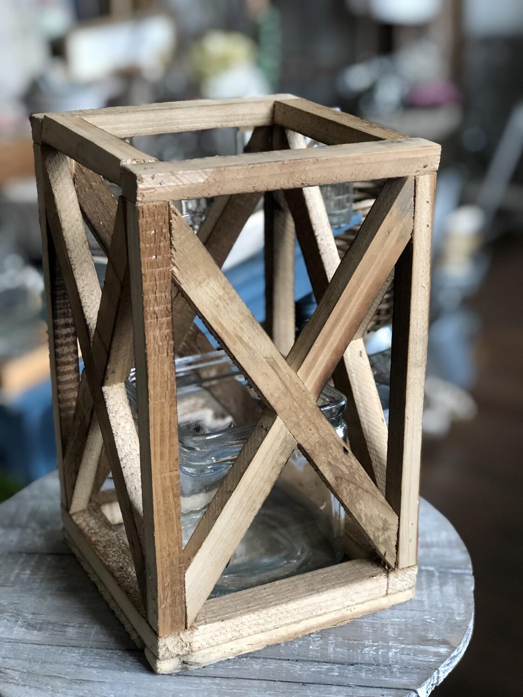 Rustic wood lantern sm no.da100