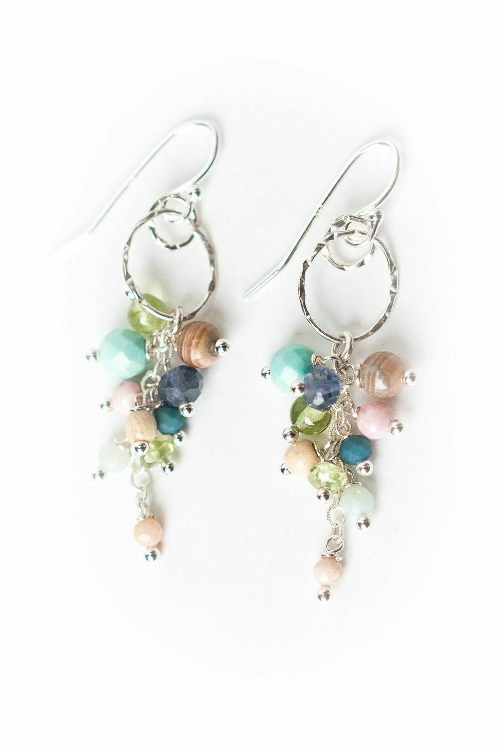 AV Fresh Air Gemstone Cascading Cluster Earrings no.Fres007E